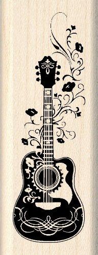 Inkadinkado Folk Guitar Wood Stamp