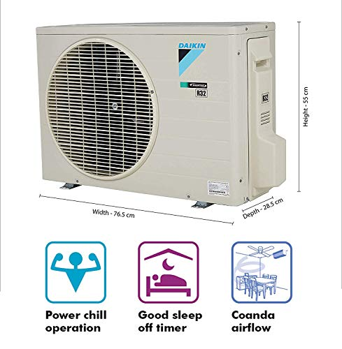 Daikin 1 Ton 5 Star Inverter Split AC (Copper FTKM35TV White) 2021 July Split AC with inverter compressor: Variable speed compressor which adjusts power depending on heat load. It is most energy efficient and has lowest-noise operation Energy Rating: 5 Star: , Annual Energy Consumption (as per energy label): 577 units, ISEER Value: 4.7 Manufacturer Warranty: 1 Year on Product, 1 Year on Condenser, 10 Years on Compressor