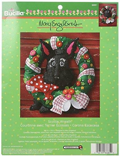 Bucilla Felt Applique Wreath Kit, 16.5 by 14.5-Inch, 86681 (Applique Kit)