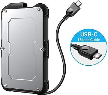 USB Aluminio C 3.1 Gen 2 Tipo-C Gabinete Unidad de disco duro ...