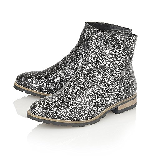 LOTUS Leather JERI Pewter Ankle Boots, Casual Pewter