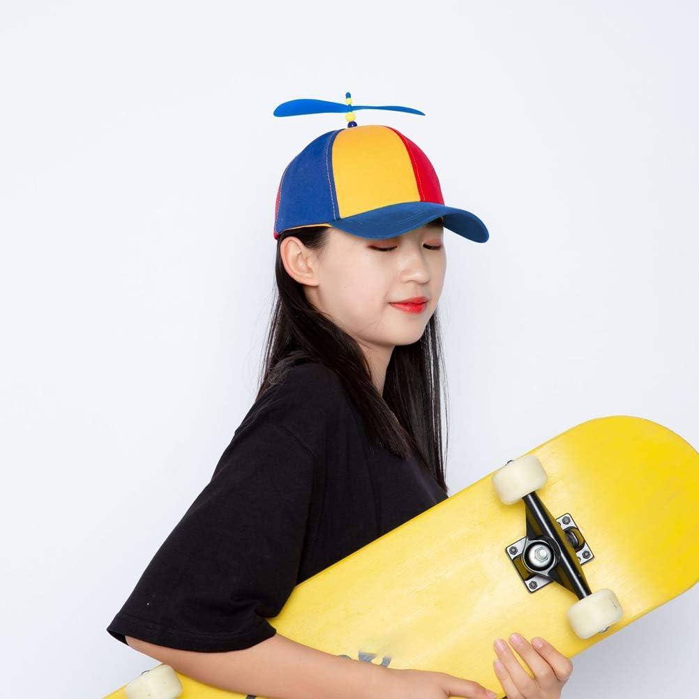 Atrumly Chapeau de baseball r/églable unisexe avec h/élice multicolore