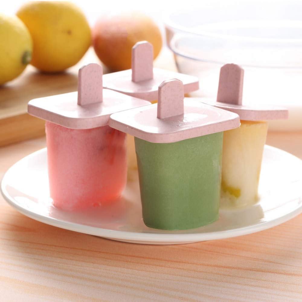 Forma de letra Modelo de helado de cubitos de hielo DIY Congelador r/ápido de helados Molde para paletas,Juego de moldes para paletas,dom/éstica Molde para paletas de grado alimenticio Azul//Rosa