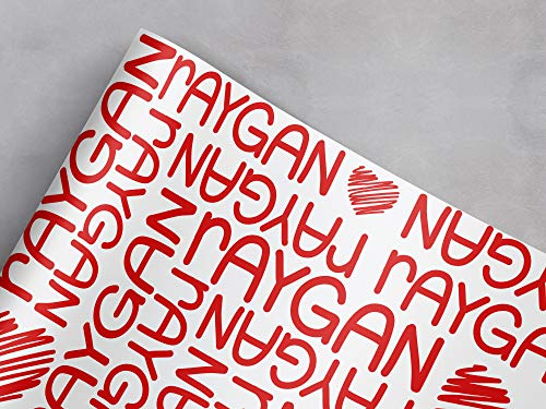 Personalized Name Heart Gift Wrapping Paper   29