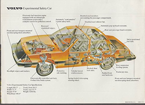 1972 Volvo Experimental Safety Car sales folder at Amazons Entertainment Collectibles Store