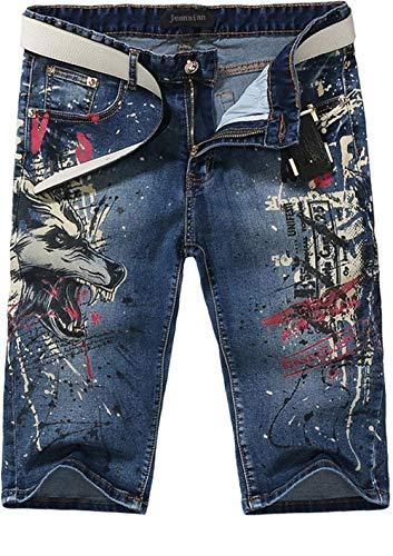 Blu Jeans Di Casual Corte Bobo Lunghe Pantaloni Da Con Maniche Ricamo Casuali A Uomo Estilo Especial Ricamati 88 Estivi Vintage 8OqAEqwHn