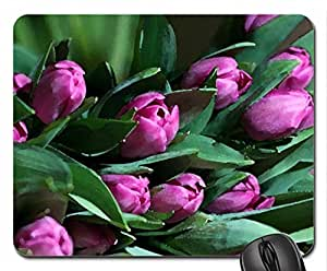 Tulips Mouse Pad, Mousepad (Flowers Mouse Pad, Watercolor style) by mcsharks
