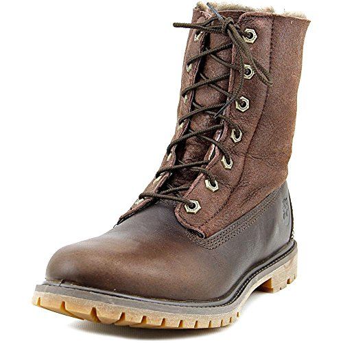 Timberland Women's Authentics Shearling Fold-Down Boot,Mulch Forty Full Grain (Full Shearling Boot)