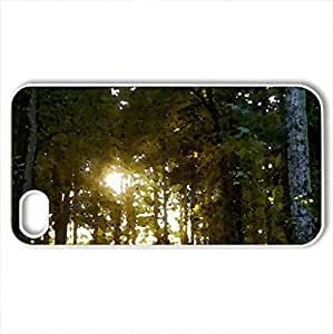 Beautiful Forest - Case Cover for iPhone 4 and 4s (Forests Series, Watercolor style, White)