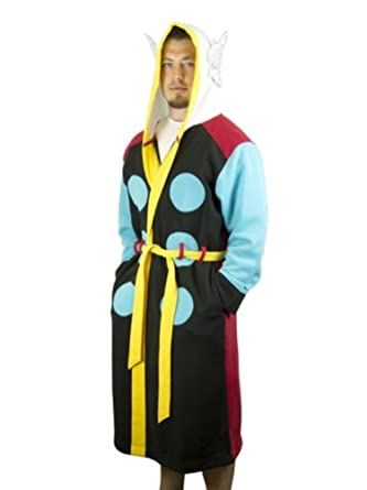 Marvel Comics Avengers Mens Fleece Thor Housecoat Bath Robe Costume Small/Medium