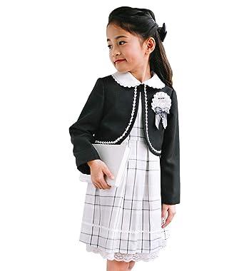 1b91c9784add8 入学式 子供 女の子 スーツ 卒園式 子供服 3点セット フォーマル キッズ 110