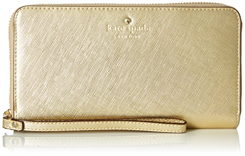 - kate spade new york Zip Wristlet (Fits Most Mobile Phones) - Saffiano Gold