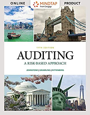 MindTap Accounting for Johnstone/Gramling/Rittenberg's Auditing: A Risk Based-Approach [Online Code]