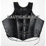Nauticalmart Black Faux Leather Armor Jacket Vest