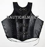 Nauticalmart Black Faux Leather Armor Jacket Vest
