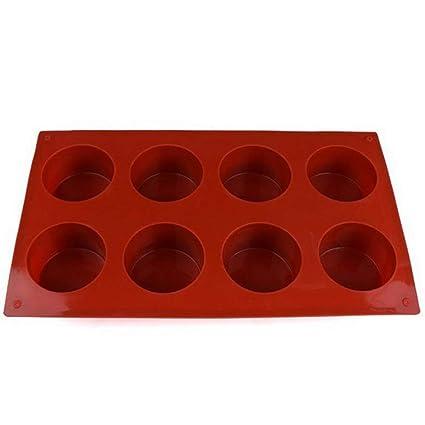 Xinlie Moldes Silicona Jabon Redondo Molde Silicona Reposteria Moldes Jabon 8 Hueco Moldes para Jabones Bricolaje