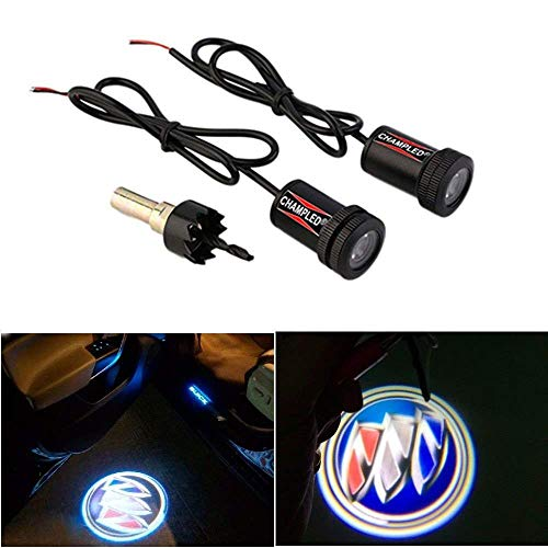 WONFAST® Car Auto Laser Projector Logo Illuminated Emblem Under Door Step courtesy Light Lighting symbol sign badge LED Glow Performance