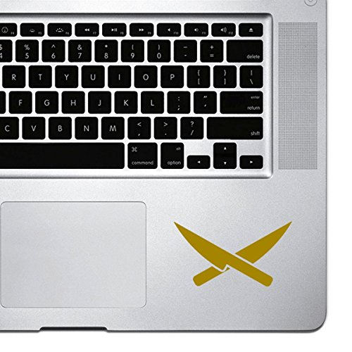 StickAny Palm Series Chef Knives Sticker for MacBook Pro, Chromebook, and Laptops (Gold)