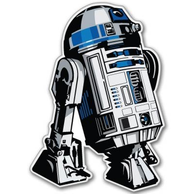 Crawford Graphix Star Wars Astromech Droid R2-D2 Vynil Car Sticker Decal - 4