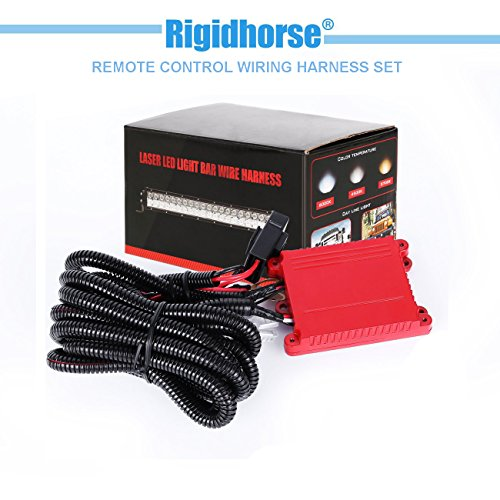 Wiring Harness Rigidhorse Remote Control Wiring Harness Kit For Multi-color LED Light Bar Universal Fitment Light Bar Accessories