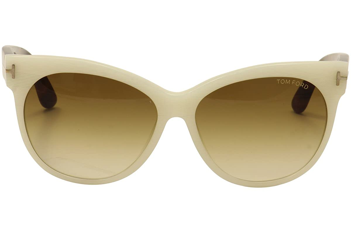Tom Ford TF330 20F White Ivory Brown Gradient Sunglasses