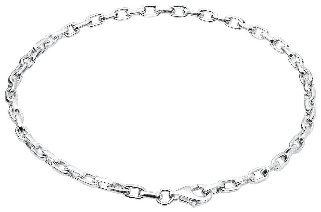Nenalina Armband 925 Sterling Silber Bettelarmband für alle gängigen Charms Anhänger Breite 3 mm Länge bis 22 cm - 873009-022