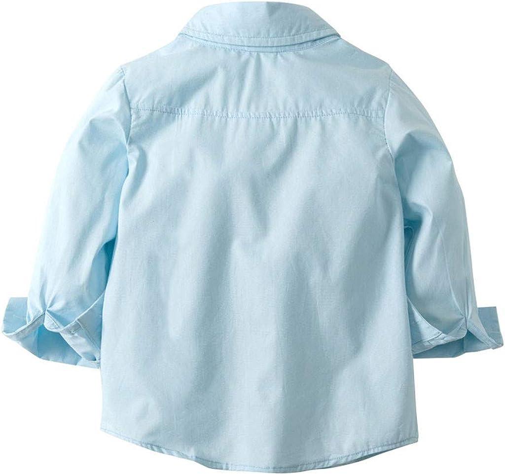 Julhold Toddler Neonato Kid Moda Gentleman Solid Bow Top in Cotone Slim T-Shirt Pantaloni Pantaloni Set Generale 0-4 Anni