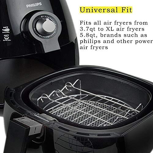 5 PCS Airfryer Accessories,Universales Accesorios Para Enfriadores De Aire Para Phillips Gowise Cozyna y Más Marcas (3.0 Qt Up), Incluyendo Barril De Pastel ...
