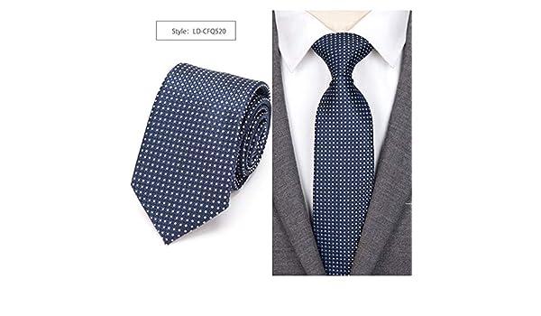LFLJIE Hombres Corbata Corbatas Corbata a Cuadros Boda Hombre Camisa de Negocios Accesorios LD-CFQ520: Amazon.es: Deportes y aire libre