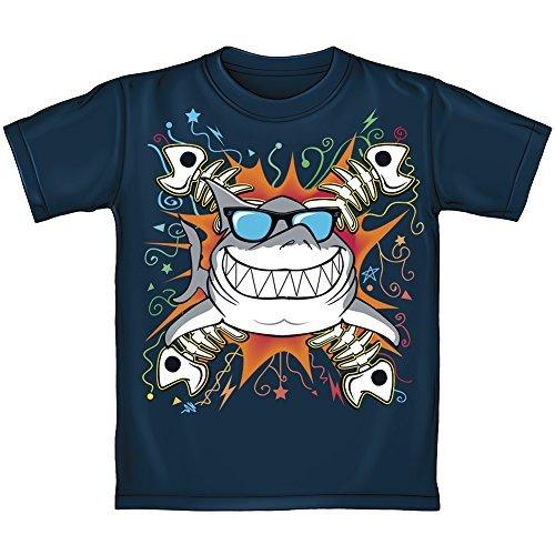 Shark Sunglasses (Glow In The Dark) Youth Tee Shirt (Kids - In Sun Glow The Glasses Dark