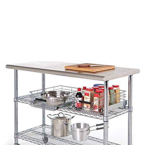 Commercial Kitchen Designer Jobs In Uae: Seville Classics Commercial NSF Stainless Steel Top Worktable 49 X 24 Inches