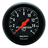 Auto Meter 2654 Z-Series 2-1/16-Inch Full Sweep Electric E.G.T Pyrometer Gauge