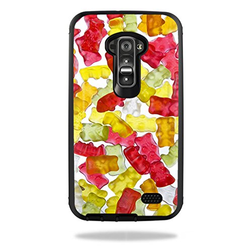 MightySkins Skin For OtterBox Defender LG G Flex Case – Gummy Bears | Protective, Durable, and Unique Vinyl Decal wrap cover | Easy To Apply, Remove, and Change Styles | ()