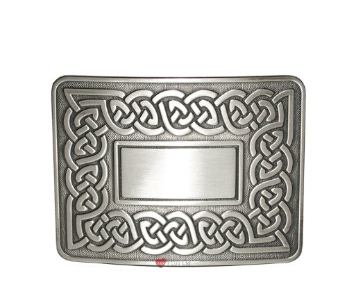 Celtic Link Kilt Belt Buckle Antique I Luv LTD