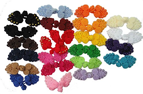 Lyracces Mixed 21 Pairs 21color Size Handmade Sewing Fasteners Chinese Closure Knot Cheongsam Frog Buttons