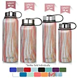 MIRA 32 Oz Stainless Steel Vacuum Insulated Wide Mouth Water Bottle | Thermos Keeps Cold for 24 hours, Hot for 12 hours | Double Wall Powder Coated Travel Flask | Sunset