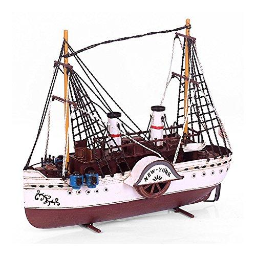 gxlda hecha a mano hierro Hierro Boot, modelo Vela Barcos ...