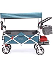 Creative Outdoor Push Pull Stroller Wagon Silver Series for Kids - Parent
