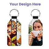 10 Pack Sublimation Blank Keychain Glitter PU