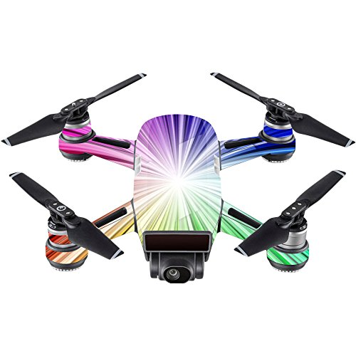 MightySkins Skin for DJI Spark Mini - Rainbow Explosion | Protective, Durable, and Unique Vinyl Decal wrap Cover | Easy to Apply, Remove, and Change Styles | Made in The USA