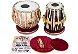 Maharaja Musicals Tabla Set, Professional, 3.5 Kg Copper Bayan - Flower Design, Sheesham Dayan - C Sharp, Padded Bag, Hammer, Cushions, Cover, Tabla Hand Drums Indian (PDI-BHJ)