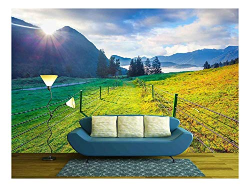 (wall26 - Colorful Summer Morning in The Triglav National Park, Slovenia, Julian Alps, Europe - Removable Wall Mural | Self-Adhesive Large Wallpaper - 100x144 inches)