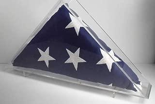 product image for Memorial Flag Acrylic shadowbox Veteran Military Burial Display