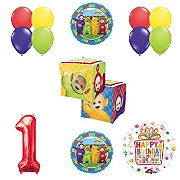 Teletubbies 1st Birthday CUBZ Balloon Party Supplies And Decorations Amazoncouk Toys Games