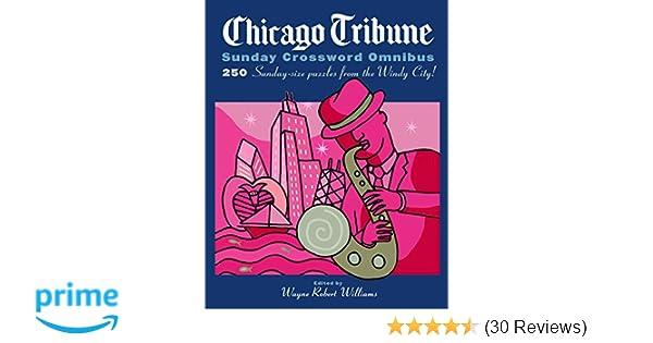 picture relating to Printable Chicago Tribune Crossword identified as Chicago Tribune Sunday Crossword Omnibus (The Chicago