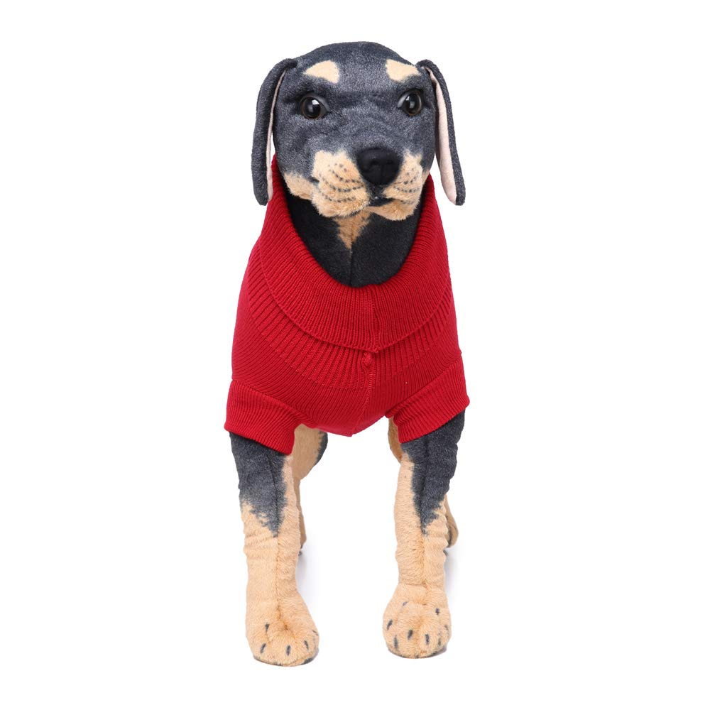 MCJL Dog Clothes Beautiful Polyester Big Dog Sweater Letter Pattern red Clothes 2 Pieces,XXXXL