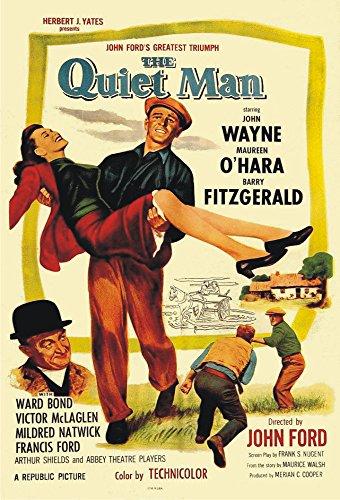 The Quiet Man, John Wayne, Maureen O'Hara, Movie, Poster Art, Vintage, Souvenir, Locker Magnet 2 x 3 Fridge - Airport Wayne John