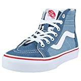 Vans Kids K SK8-HI Zip Denim 2 Tone Blue True White Size 1
