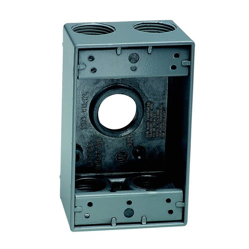 Sigma Electric 14253-5 3/4-Inch 5 Hole 1-Gang Box, (1g Gang Weatherproof Box)