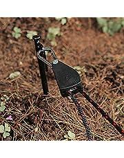 Dingyue Camping katrol met 2,3/2 m touw verstelbare zware vergrendeling touw hanger opknoping draad slepen wiel voor outdoor